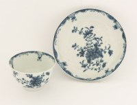 Lot 10 - A Worcester blue and white Tea Bowl and Saucer