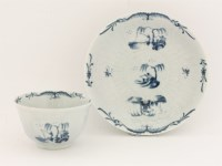 Lot 11 - A rare Worcester blue and white Tea Bowl and Saucer