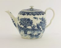 Lot 15 - A Worcester blue and white printed Teapot and Cover