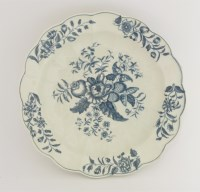Lot 23 - A Worcester blue and white Junket Dish