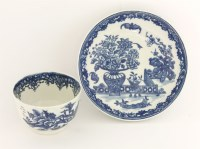 Lot 30 - A Worcester blue and white Tea Bowl and Saucer