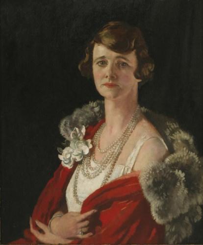 Lot 242 - Sir William Orpen RA RHA (1878-1931)  PORTRAIT OF GERTRUDE