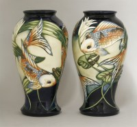 542 - A pair of Moorcroft 'Quiet Waters' pottery vases