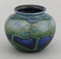 185 - A William Moorcroft 'Moonlit Blue' jar
