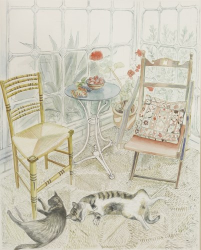 Lot 387-*Richard Bawden RSW (b.1936) 'TWO SISTERS' Signed l.r.