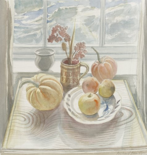 Lot 389-*Richard Bawden RWS (b.1936) STILL LIFE WITH FRUIT Signed and dated 2006 l.r.