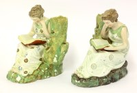 Lot 2 - A pair of Staffordshire pearlware Figures of Literature