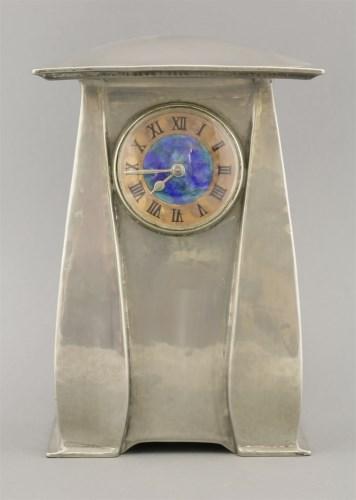 114 - A Tudric pewter clock