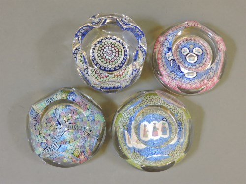 Lot 1408 - Four Whitefriars glass paperweights