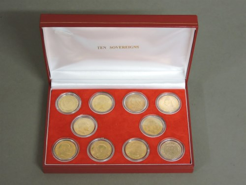 Lot 1074 - Ten gold sovereigns