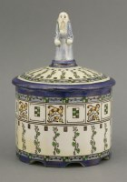 84 - A Royal Doulton Burslem 'Old Nod' lustre pot and cover