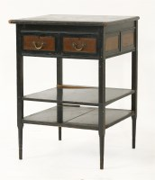 77 - An Aesthetic ebonised side cabinet