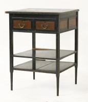 77 - An Aesthetic ebonised side cabinet