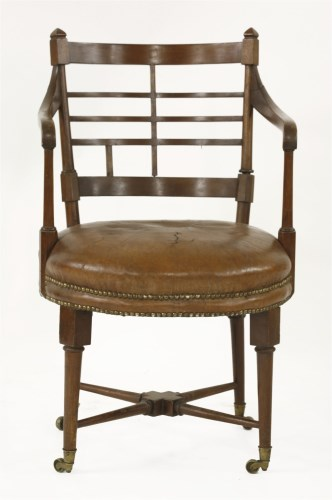 Lot 67-A walnut 'Old English' or 'Jacobean' armchair