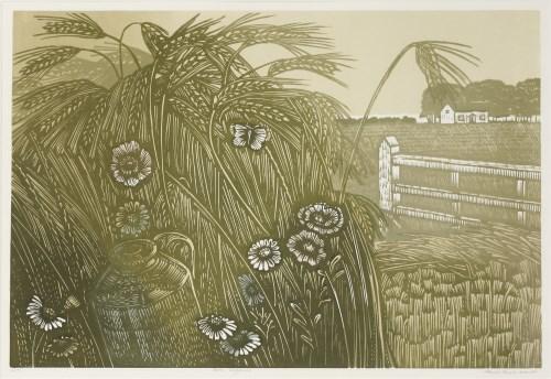 273 - *Paul Beck (b.1922) 'CORN POPPIES' Linocut