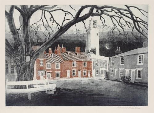 Lot 276-*Richard Bawden (b. 1936) 'SOUTHWOLD' Etching and aquatint