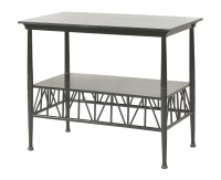 76 - An Aesthetic ebonised side table