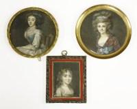 144 - A portrait miniature (French