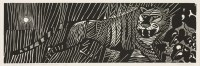 Lot 1 - *Edward Bawden RA (1903-1989) 'TYGER! TYGER! BURNING BRIGHT IN THE FORESTS OF THE NIGHT...' Linocut