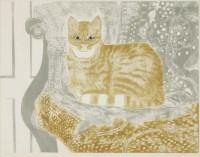 Lot 10 - *Sheila Robinson (1925-1988) 'GINGER TOM' Linocut