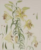 Lot 52 - *Dame Elizabeth Blackadder RA RSA RSW (b.1931) 'AURATUM LILLIES' Lithograph printed in colours