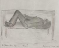 Lot 93 - *Laurence Stephen Lowry RA (1887-1976) 'FIGURE ON A BENCH II' Signed