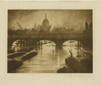Lot 81 - *Christopher Richard Wynne Nevinson (1889-1946) THE THAMES AT WATERLOO BRIDGE Photogravure