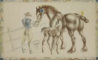 Lot 75 - *John Skeaping RA (1901-1980) MARE AND FOAL  Lithograph