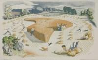Lot 76 - *John Northcote Nash RA (1873-1977) HARVESTING Lithograph
