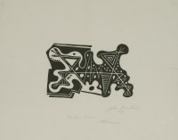 Lot 82 - *John Banting (1902-1972) 'ABSTRACT' Linocut
