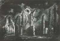 Lot 47 - *John Piper CH (1903-1992) ARBROATH ABBEY (Levinson 407) Screenprint in colours