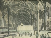 Lot 4 - *Edward Bawden RA (1903-1989) LIVERPOOL STREET STATION Lithograph in colours