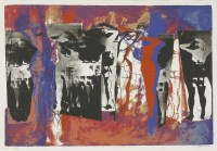 Lot 43 - *John Piper CH (1903-1992) 'EYE AND CAMERA: MULTIFIGURE' (Levinson 212) Screenprint