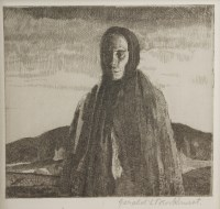 Lot 54 - *Gerald Leslie Brockhurst RA (1890-1978) 'A GALWAY PEASANT' (W10); 'A BALLYNAKILL WOMAN' (W53) Two