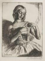 Lot 55 - *Gerald Leslie Brockhurst RA (1890-1978) 'NADEJDA' Etching