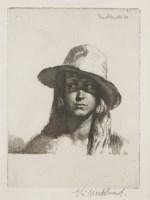 Lot 57 - *Gerald Leslie Brockhurst RA (1890-1978) 'CORINNE' Etching