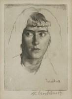 Lot 59 - *Gerald Leslie Brockhurst RA (1890-1978) 'PHEMIE' Etching