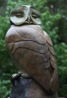 Lot 28 - *David Meredith (b.1973) 'OWL LOOKING BACKWARDS' Bronze
