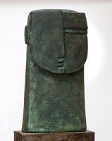 Lot 29 - *Peter Hayes (b.1946) 'TOTEM HEAD' Stoneware 45cm wide 18cm deep 84cm high  *Artist's Resale Right may apply to this lot.