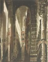 Lot 46 - *John Piper CH (1903-1992) 'DEATH IN VENICE 1' (Levinson 225) Screenprint in colours