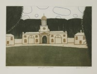 Lot 63 - *Julian Trevelyan RA (1910-1988) 'WALLINGTON CLOCK TOWER' Etching with aquatint in colours