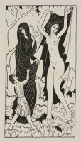 Lot 68 - Eric Gill (1882-1940) 'NATURE AND NAKEDNESS' Wood engraving