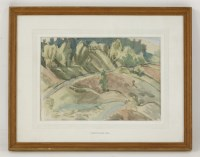 Lot 104 - *John Melville (1902-1986) 'A ROAD ON CANNOCK CHASE' Signed and dated 1950 l.l.