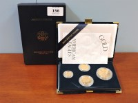 156 - American eagle gold uncirculated four coin set