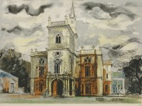 Lot 45 - *John Piper CH (1903-1992) 'FLINTHAM HALL' (Levinson 279) Screenprint in colours
