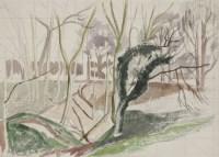 Lot 101 - *John Northcote Nash RA (1893-1977) WOODLAND SCENE With estate stamp verso