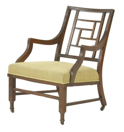 Lot 74 - A mahogany armchair