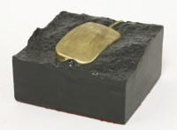 Lot 38 - *Nettie Firman (contemporary) 'MOUSE FOSSIL' Original cast concrete sculpture with gold leaf 8.5cm high  *Artist's Resale Right may apply to this lot.