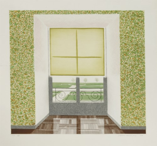 85 - *David Hockney RA (b.1937) 'CONTREJOUR IN THE FRENCH STYLE' (SAC 167) Etching with soft-ground etching and aquatint 1974