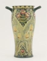 51 - A James Macintyre Moorcroft Florianware twin-handled vase